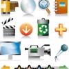 Set di icone per multimedia, cinema, ecc