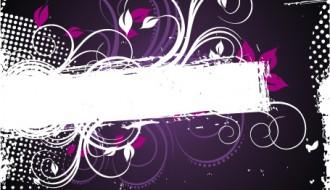 banner con spirali viola – swirly purple banner
