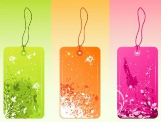 etichette floreali – flowered grunge labels