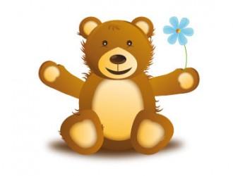 orsetto con fiore – teddy with flower