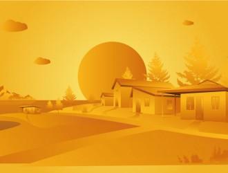 paesaggio arancione – orange landscape