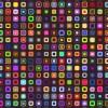 pattern quadrati colorati – colored square pattern