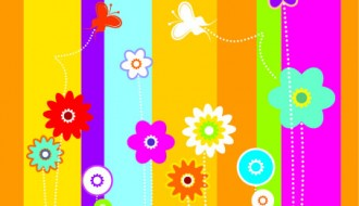 sfondo colorato con fiori – colorful background with flowers