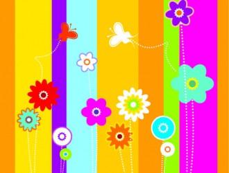 sfondo colorato con fiori – colorful background with flowers