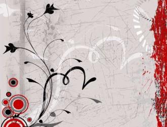 sfondo grunge floreale – grunge floral background