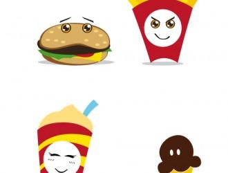 panino, patatine, gelato, bibita – sandwich, chips, ice cream, soda