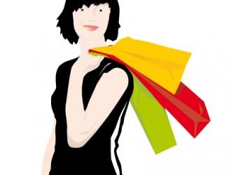 ragazza con buste – shopping girl