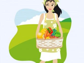 ragazza con frutta – girl with fruit