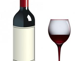 Bottiglia e bicchiere di vino – Bottle and glass of wine