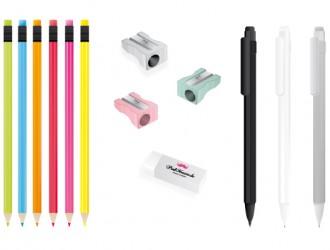 matite, temperamatite, gomma, colori – pencils, pencil sharpener, eraser, color
