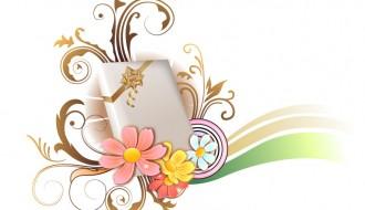 regalo con fiori e decorazioni – gift with flowers and decorations