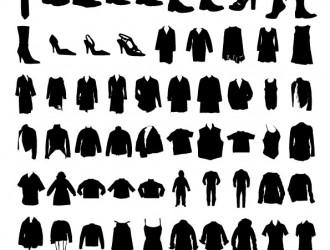 sagome di abbigliamento – sillhouettes of clothing