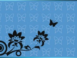 sfondo con farfalle e fiori – batterfly and floral background