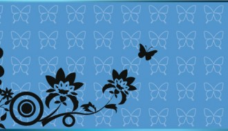 sfondo con farfalle e fiori – batterfly and floral background