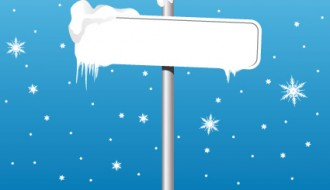 banner con neve – snowy banner