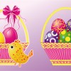cesto con uova di Pasqua – basket with Easter eggs