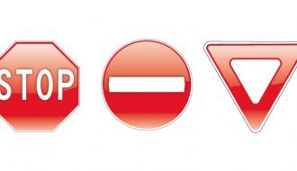 3 segnali stradali – 3 road signs
