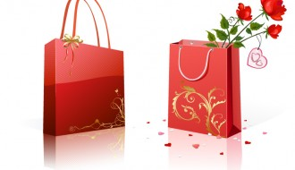buste regalo con rose – gift bags with roses