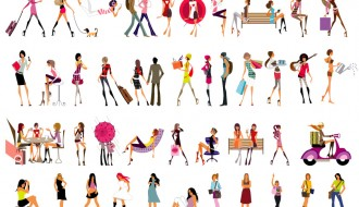 sagome di ragazze fashion – glamour girls
