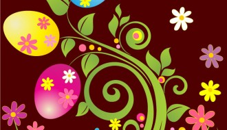 uova di Pasqua e fiori – Easter eggs and flowers