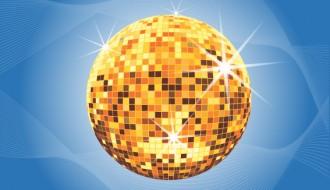 palla da discoteca dorata – golden mirrorball