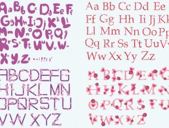 alfabeti con cuori – love alphabets