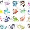 elementi floreali ornamentali – floral ornament elements