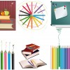 libri, colori, lavagna – books, pencils, blackboard