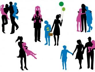 sagome di famiglia – family silhouettes