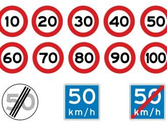 segnali stradali di velocità – speed signs