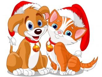 cane e gatto natalizi – Christmas dog and cat