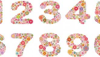 numeri floreali – floral numbers