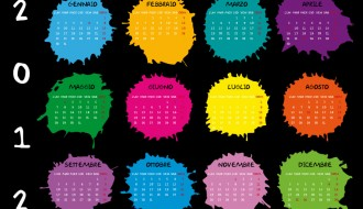 calendario 2012 macchie d'inchiostro – calendar 2012 ink blots