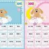 calendario bambini azzurro e rosa – blue and pink baby calendar