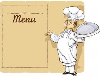 cuoco con menu – cooks with menu