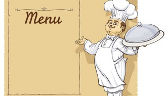 cuoco con menu – cooks with menu