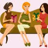 donna incinta con amiche – pregnant woman with friends