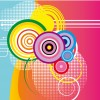 sfondo colorato con cerchi – colored background with circles