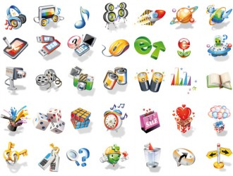 icone 3D – different icons 3D