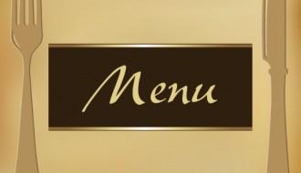 menu con posate – menu with cutlery