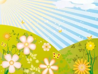 prato di fiori con farfalle – flowers' meadow with butterflies