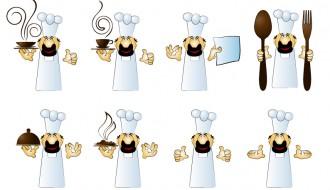 sagome di cuochi – chef silhouette