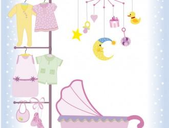 set per bambini – baby vector stock