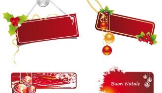 4 banner Natale – 4 Christmas banner