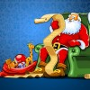 Babbo Natale con regali e lista – Santa Claus with gifts and list