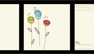 biglietti con fiori – flowers' cards