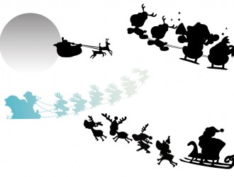 sagome slitte Babbo Natale – silhouette Christmas sleighs