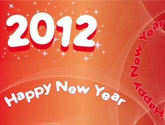 2012 con stelle e linee grafiche – 2012 with stars and graphic lines