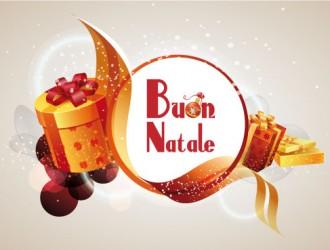 Buon natale con regali arancioni merry christmas with for Sito regali gratis