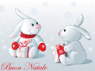 Buon Natale conigli – Merry Christmas rabbits